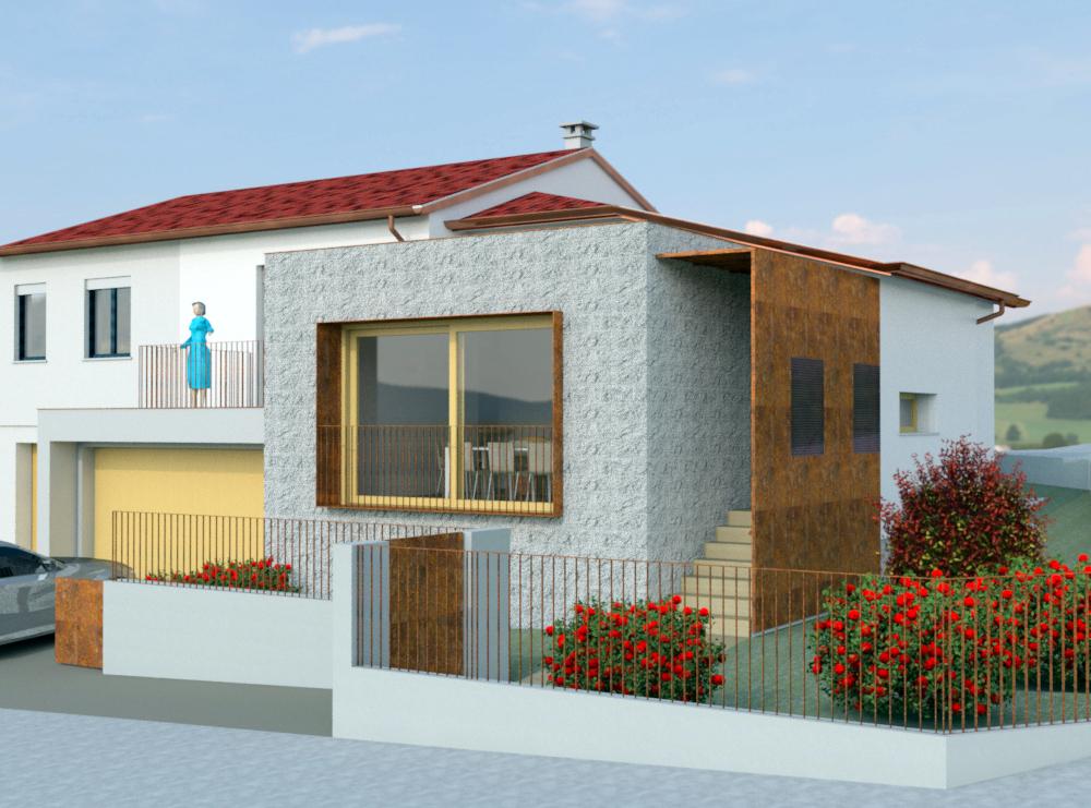Esempio di ampliamento progettato grazie alle possibilità del Piano Casa