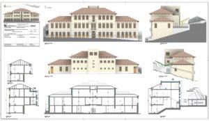 Tavola di prospetto dello stabile Municipale di Posina